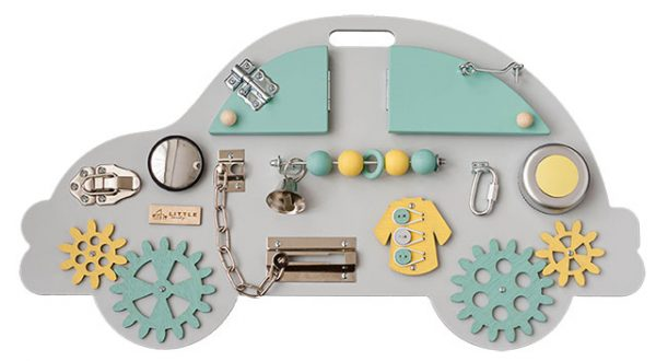 Busy board masina galben-turcoaz Little Handy