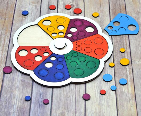 Puzzle floare colorata