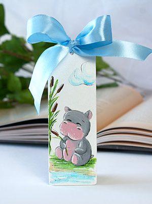 Semn de carte hipopotam