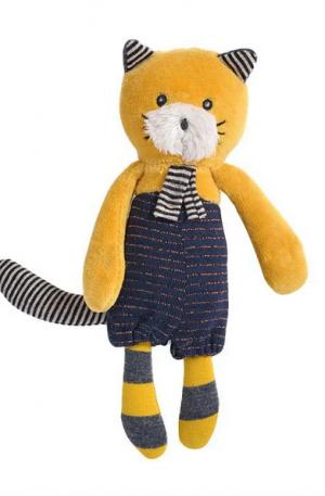 Jucarie plus bebe Lulu pisicuta galbena mica, 0 ani+, Moulin Roty