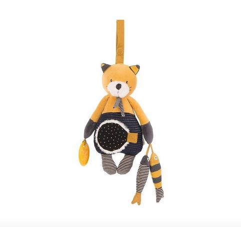 Jucarie plus bebe interactiva Lulu pisicuta galbena, suspendabila, 0 ani+, Moulin Roty