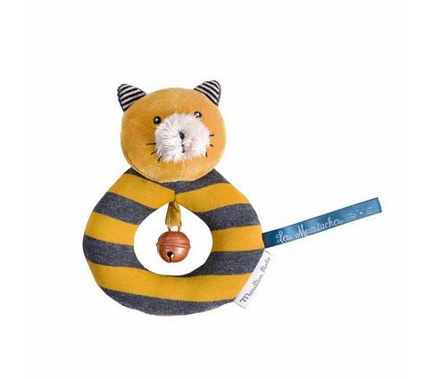 Jucarie plus bebe zornaitoare inel galben Lulu, 0 ani+, Moulin Roty