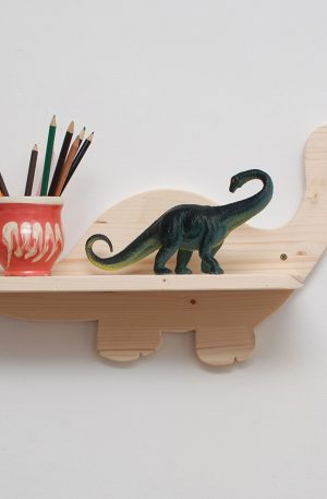 Etajera din lemn dinozaur