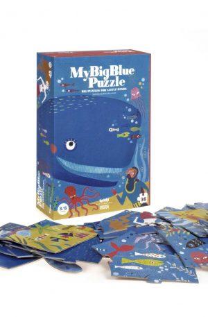 Puzzle Londji, Balena albastra in ocean