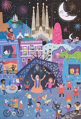 Puzzle reversibil Londji, zi si noapte in Barcelona