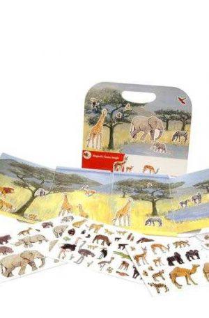 Animale din jungla, set magnetic