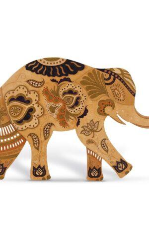 Elefantul – Decoratiune din Lemn – Pamant