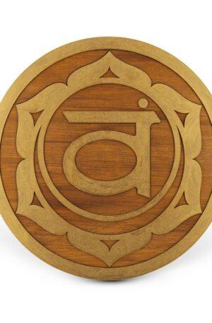 Svadhishthana Sacral Chakra – Mandala lemn