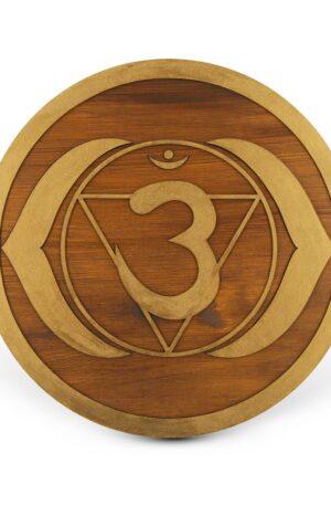 Ajna Third Eye Chakra – Mandala lemn