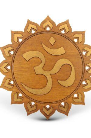 OM – Mandala lemn