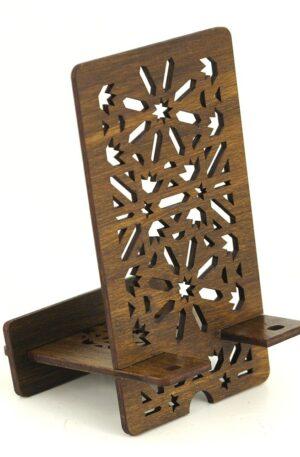 Suport Smartphone – Lemn model Marocan